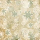 Vintage pattern with snowflake Royalty Free Stock Image