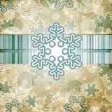 Vintage pattern with snowflake Stock Photos