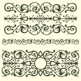 Vintage pattern, swirling elements Stock Photos