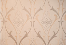 Vintage Pattern Wallpaper Close-up Stock Image