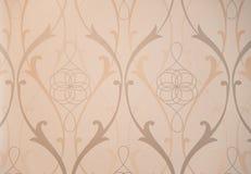 Vintage Pattern Wallpaper Close-up Stock Image