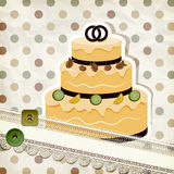Vintage pattern with wedding cake Stock Images