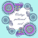 Vintage  patterned background frame with paisley Royalty Free Stock Photography