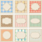 Vintage patterned card templates set Royalty Free Stock Photos