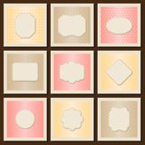 Vintage patterned cards templates set Stock Images