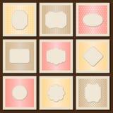 Vintage patterned cards templates set Stock Images