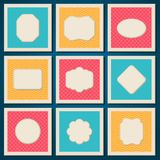 Vintage patterned cards templates set Stock Image