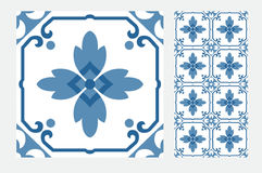 Vintage patterned tiles Royalty Free Stock Photography