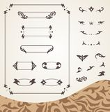 Arabic frames and design elements set Royalty Free Stock Photo