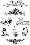Vintage patterns for design. Silhouettes Royalty Free Stock Photo