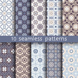 10 vintage patterns for universal background. Endless texture can be used for wallpaper, pattern fill, web page background. Vector illustration for web design Vector Illustration