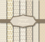 Vintage patterns. Vector illustration of different patterns Royalty Free Stock Photo