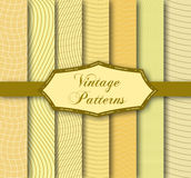 Vintage patterns. Vector illustration of different patterns Royalty Free Stock Photography