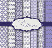 Vintage patterns. Vector illustration of different patterns Stock Photos