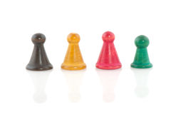 Vintage pawns Stock Photography
