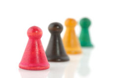 Vintage pawns Royalty Free Stock Image