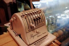 Vintage Paymaster machine Royalty Free Stock Photos