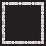 Vintage Pearl Frame Background. Vector Royalty Free Stock Photos