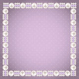 Vintage Pearl Frame Background. Vector Royalty Free Stock Photo