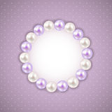 Vintage Pearl Frame Background. Vector Stock Image