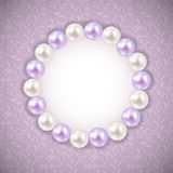 Vintage Pearl Frame Background. Vector Stock Photo