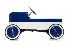 Vintage pedal car toy  on white Stock Image