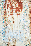 Vintage Peeling Paint on Metal Background Stock Images