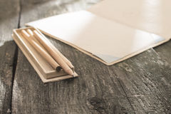 Vintage pencil and drawing paper Stock Photography
