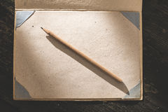Vintage pencil and drawing paper Stock Photo