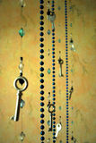 Vintage pendants and beads of the keys. In the interior Stock Image