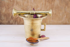 Vintage pepper mortar Royalty Free Stock Images