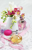 Vintage perfume bottles Royalty Free Stock Photography