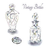 Vintage perfume bottles. Stock Photos
