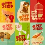 Vintage pet shop poster design. Stock Photo