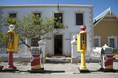 Vintage petrol pumps on the kerbside South Africa Royalty Free Stock Photography