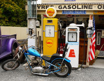 Vintage Petrol Pumps, Retro, Antiques Ware Stock Photography