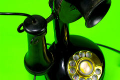 Vintage Phone. Vintage Telephone with Green Background Royalty Free Stock Photography