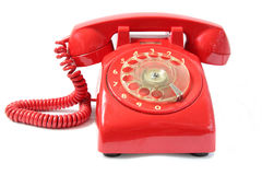 Vintage phone. Isolated on a white background royalty free stock images