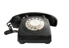 Vintage phone. Isolated on a whit background stock image