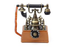Vintage Phone. On a white background royalty free stock images