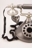 Vintage phone. Vintage looking phone isolated on a white background stock photo