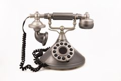 Vintage phone. Vintage looking phone isolated on a white background stock images