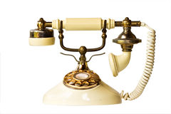 Vintage phone. Isolated on white with clipping path Royalty Free Stock Photos