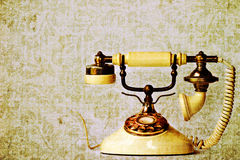 Vintage Phone. Photo based illustration of vintage phone. Room for copy space Royalty Free Stock Photography