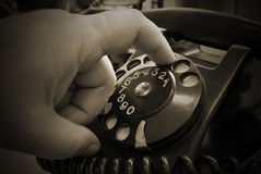Vintage phone Stock Photos