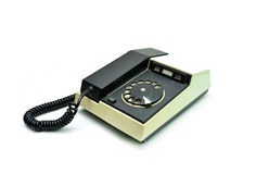 Vintage phone over white Royalty Free Stock Images