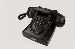 Vintage phone on white background Stock Photography