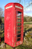 Vintage phonebox. Royalty Free Stock Images