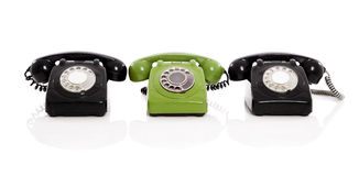 Vintage phones Stock Photography