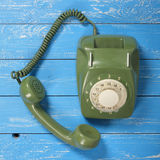 Vintage Phones - Green a retro telephone Royalty Free Stock Photography
